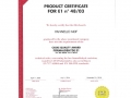 CERTIFICATION MDF